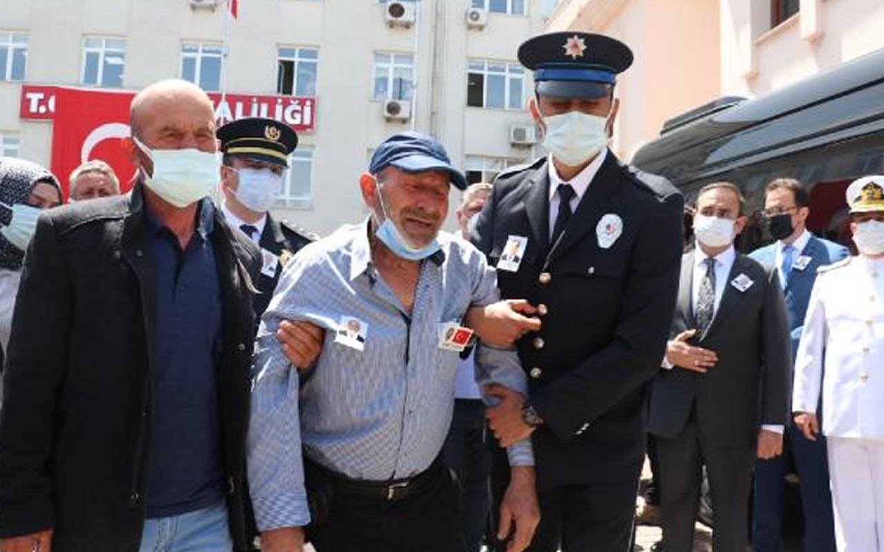 Yalova'da şehit polis memuru Mustafa Emanetoğlu törenle memleketine uğurlandı