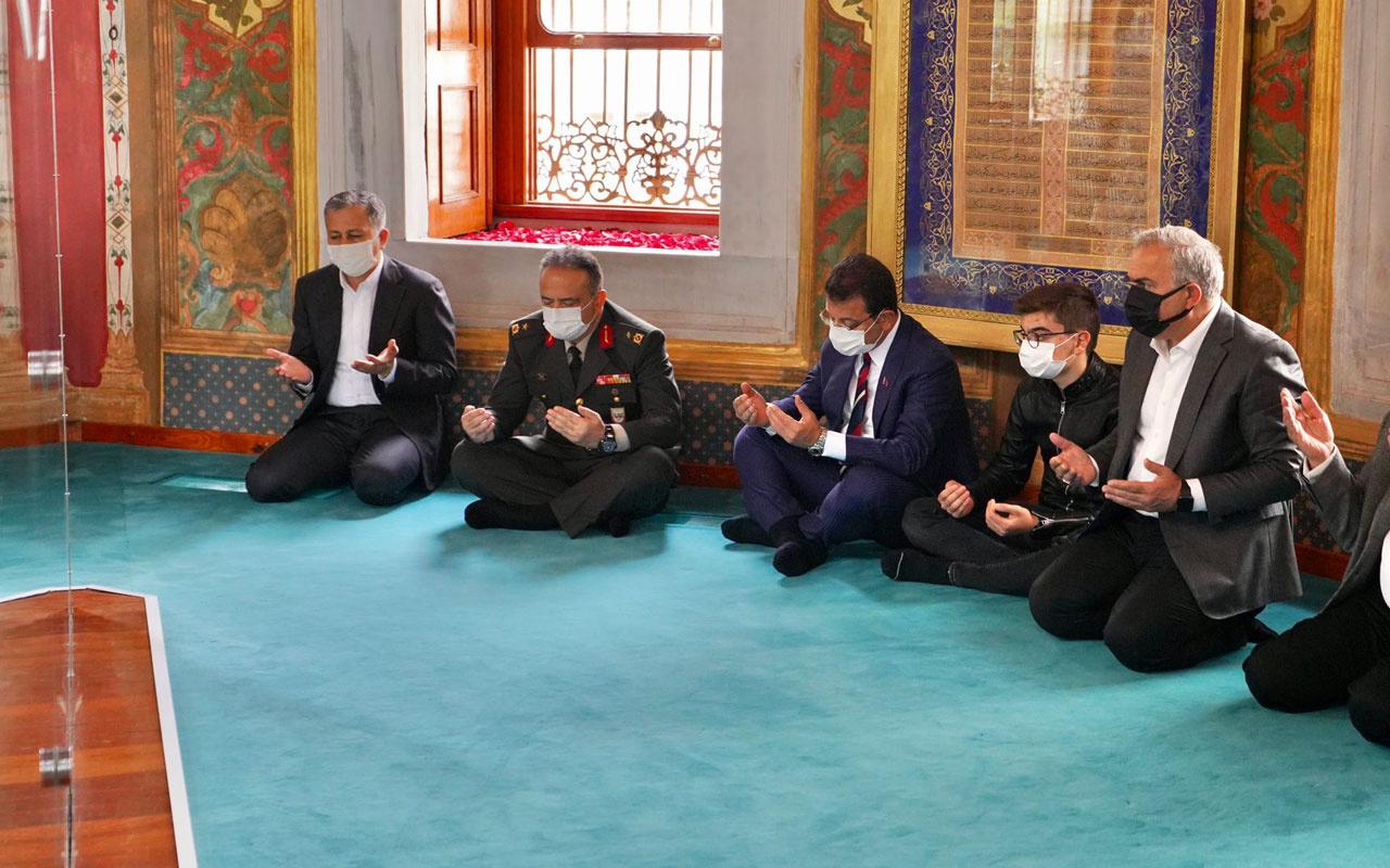 Vali Yerlikaya ile İBB Başkanı İmamoğlu Fatih Sultan Mehmet Türbesi'nde anmaya katıldı