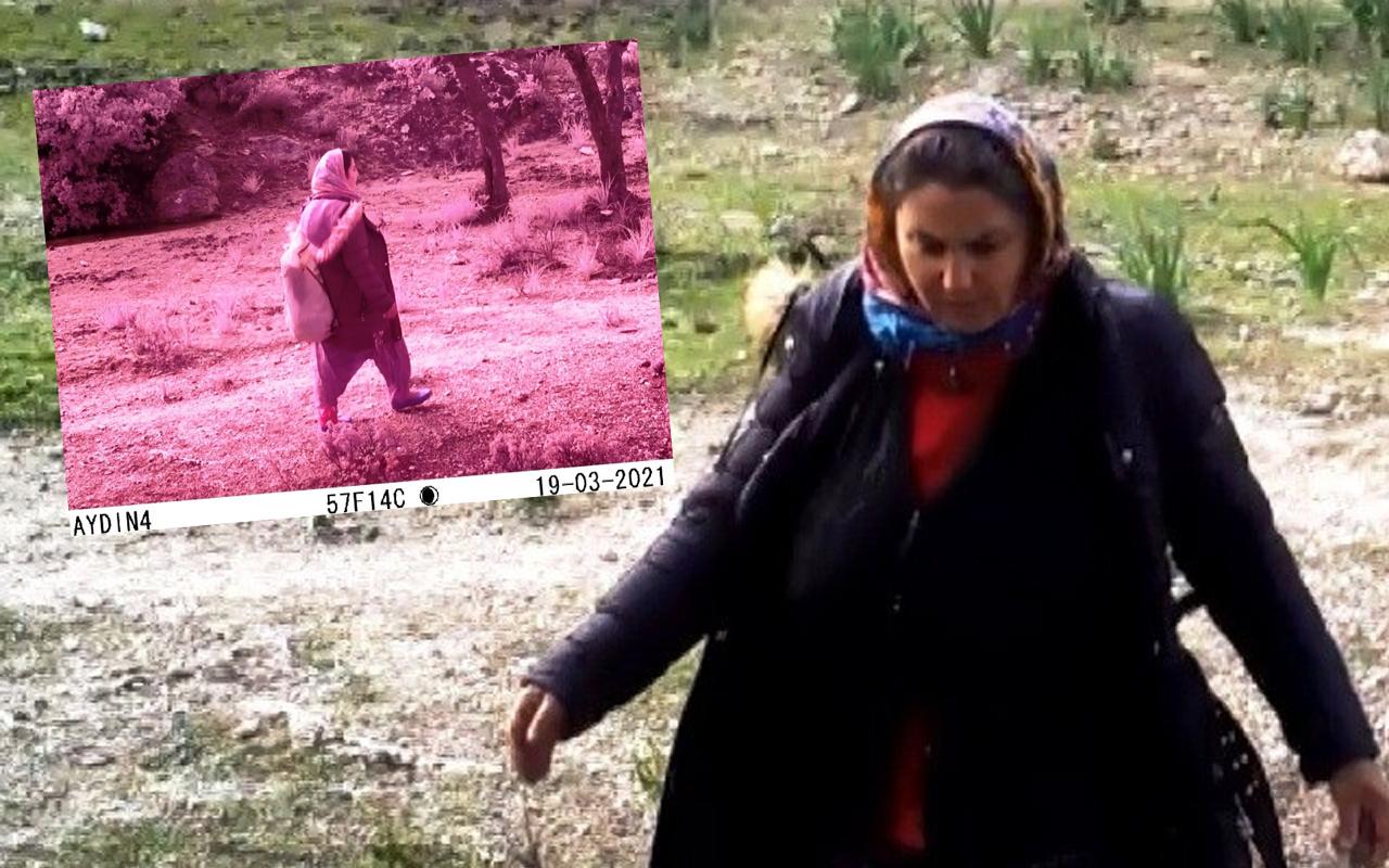 Aydın'da kimse ne yaptığını anlamadı! Fotokapan kaydetti o kadın aranıyor