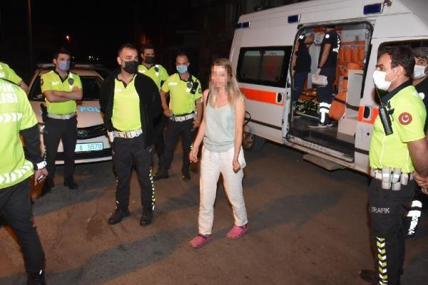 İzmir'de alkollü kadın sürücü polislerin üzerine araç sürdü! Kaza yapınca yakalandı