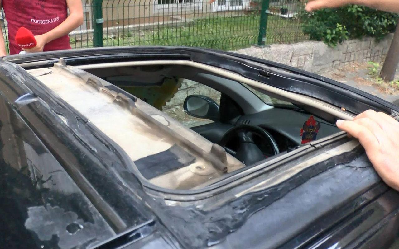 Avcılar'da otomobilinin sunroof'u çalındı çözümü masa örtüsünde buldu