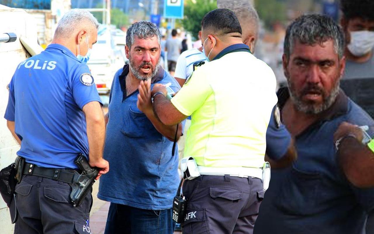 Antalya'da polislere zor anlar yaşattı! Ayakları çıplak halde gazetecilerden kaçtı