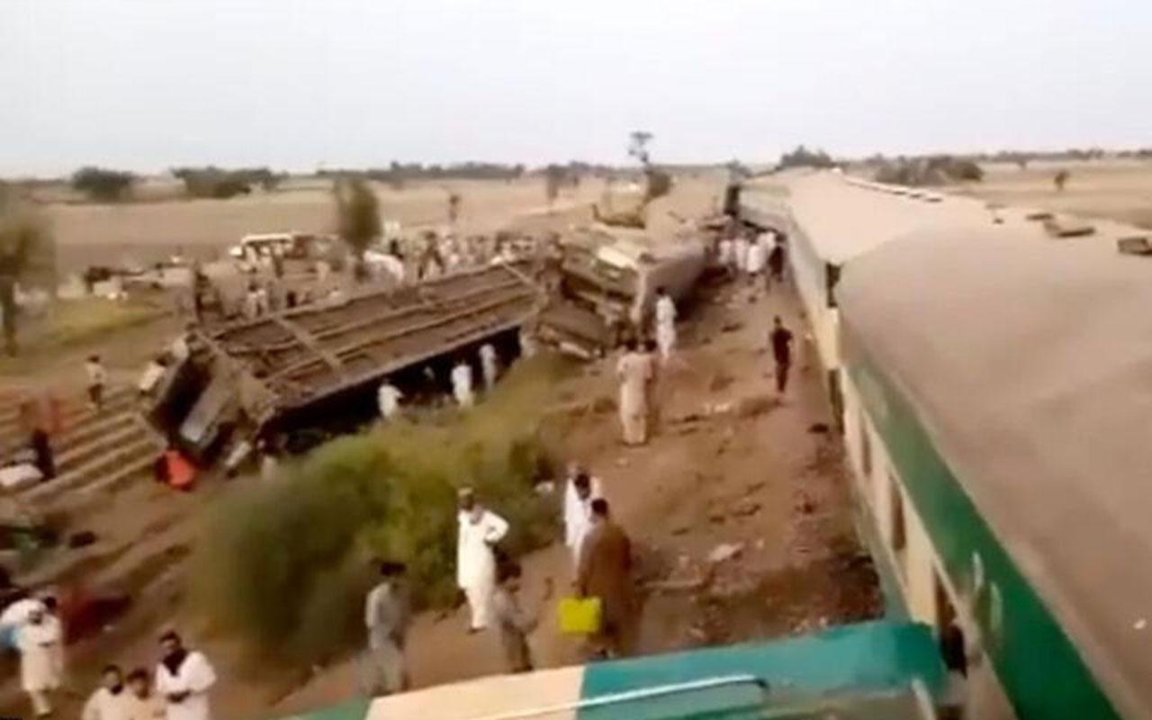 Pakistan'da tren faciası!! En az 25 kişi öldü