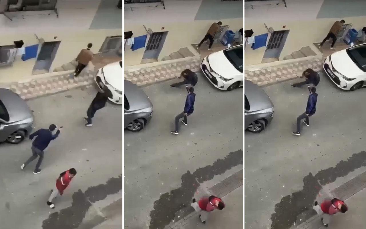 İstanbul'da dehşet anları kamerada! Sokak ortasında güpegündüz kurşun yağdırdı
