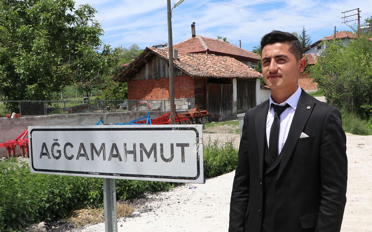 Samsun'da bir ay önce 18 yaşına giren Ali Külekçi muhtar seçildi