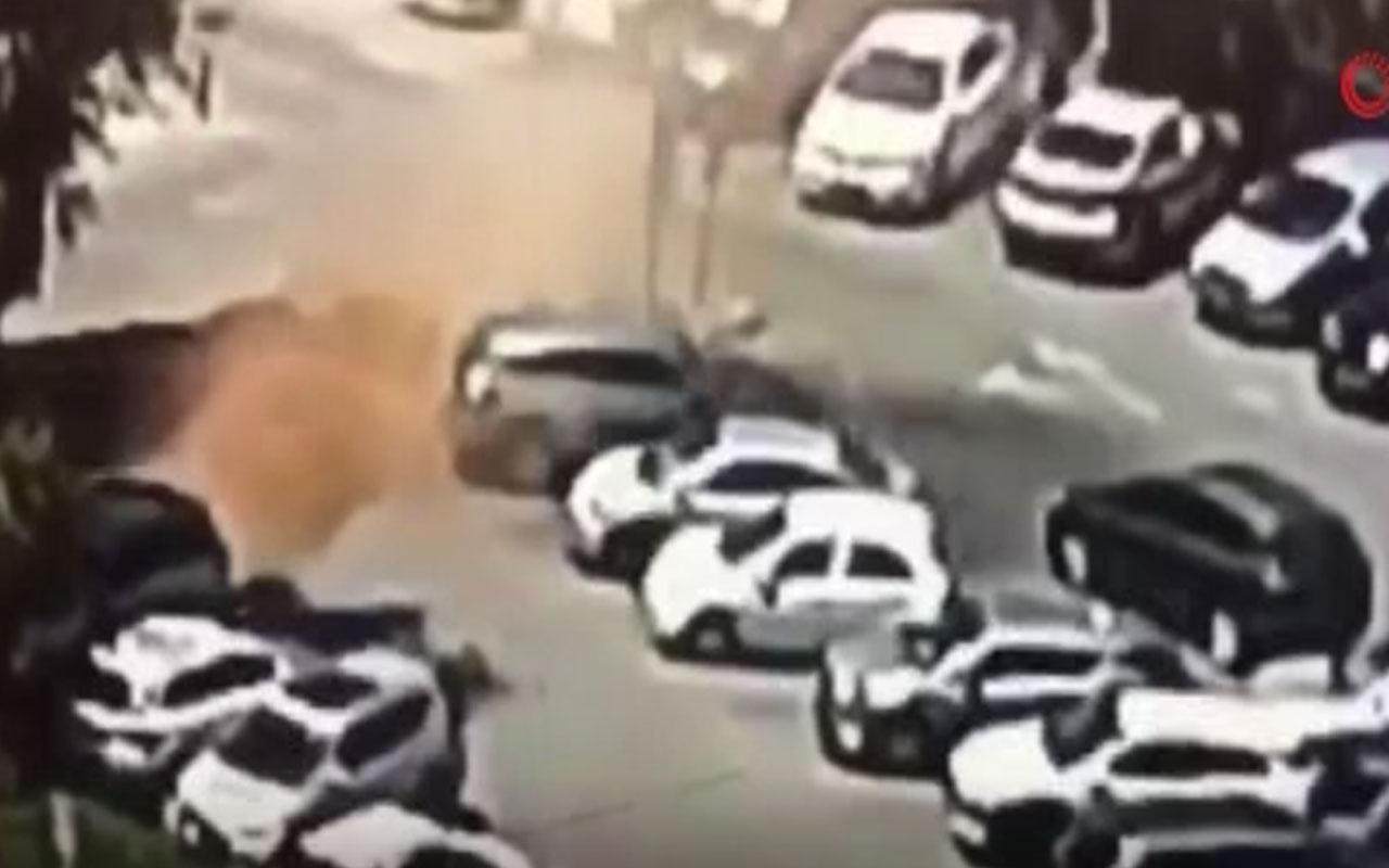 Kudüs'te otopark zemini çöktü araçlar tek tek çukura düştü