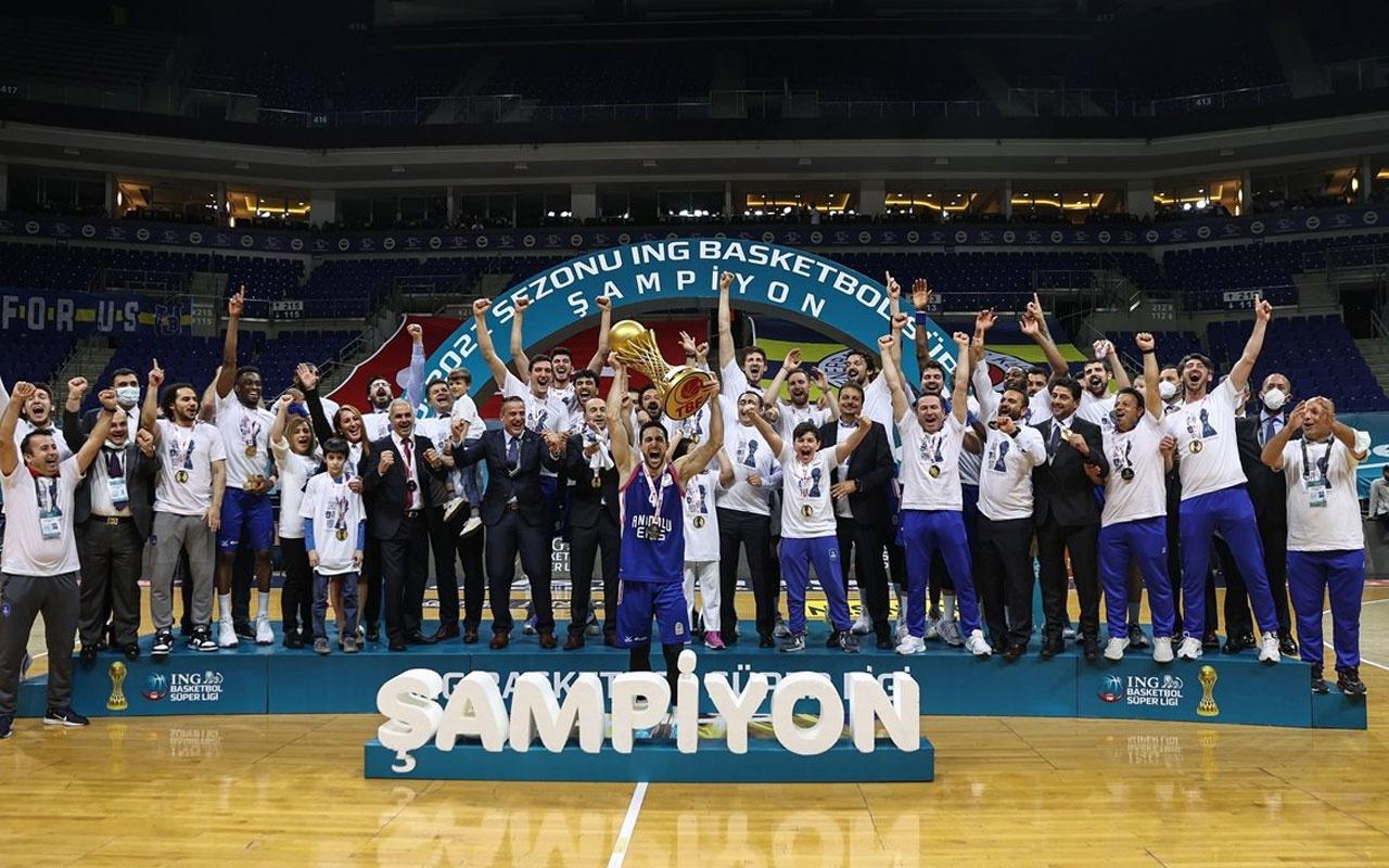 Basketbol Süper Ligi'nde şampiyon Anadolu Efes!