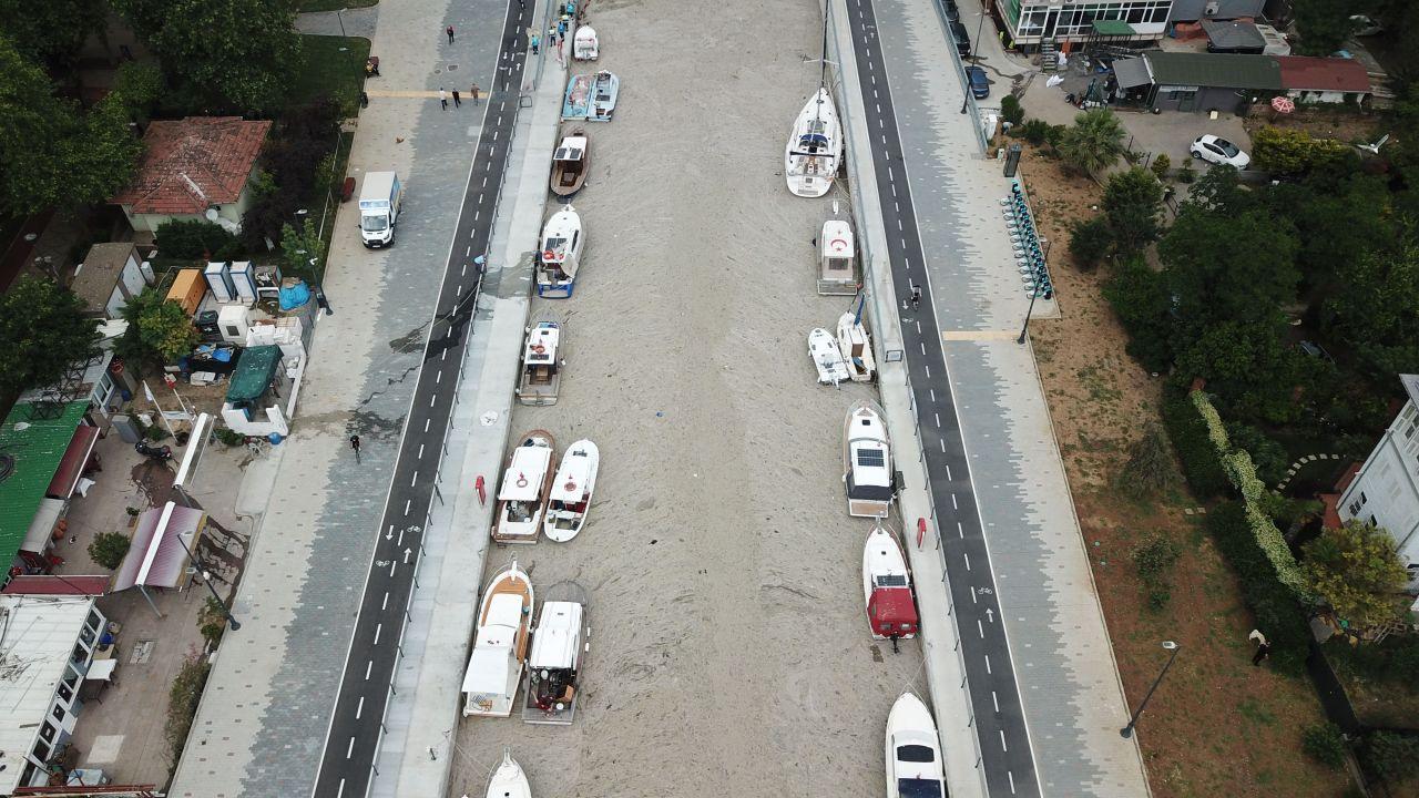 Kadıköy Kurbağlıdere'de müsilaj felaketi havadan görüntüleri