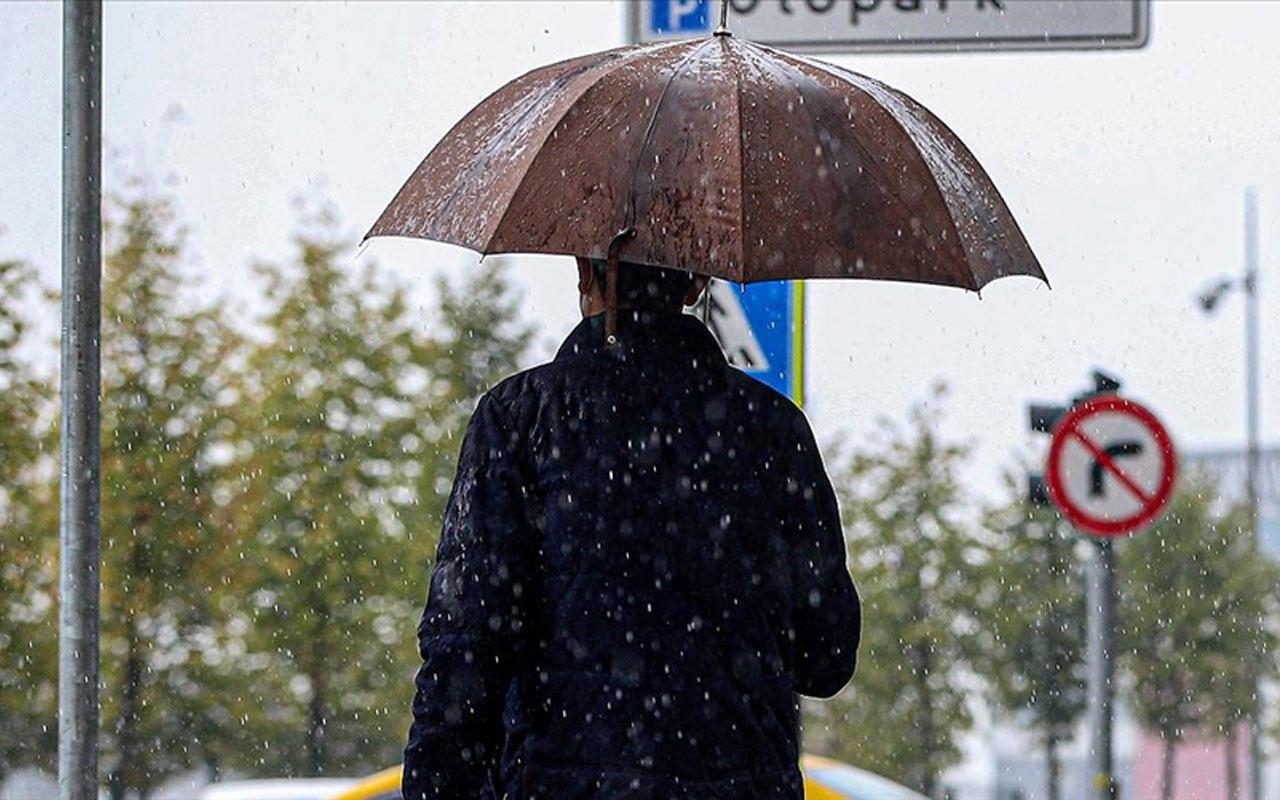 Meteoroloji saat verip uyardı! İstanbul ve çok sayıda kentte sağanak yağış var