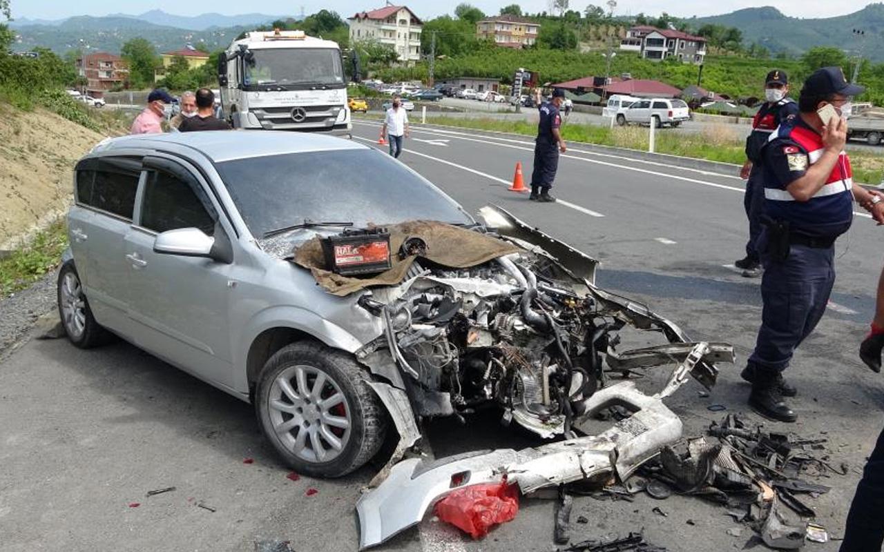 Ordu'da yolcu minibüsü kazaya karıştı: 3'ü askeri personel 15 yaralı