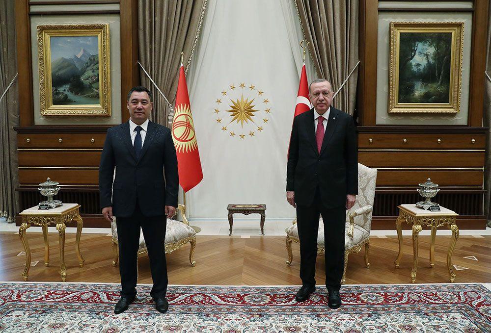 Kırgızistan Cumhurbaşkanı Sadır Caparov Ankara'da! Erdoğan törenle karşıladı