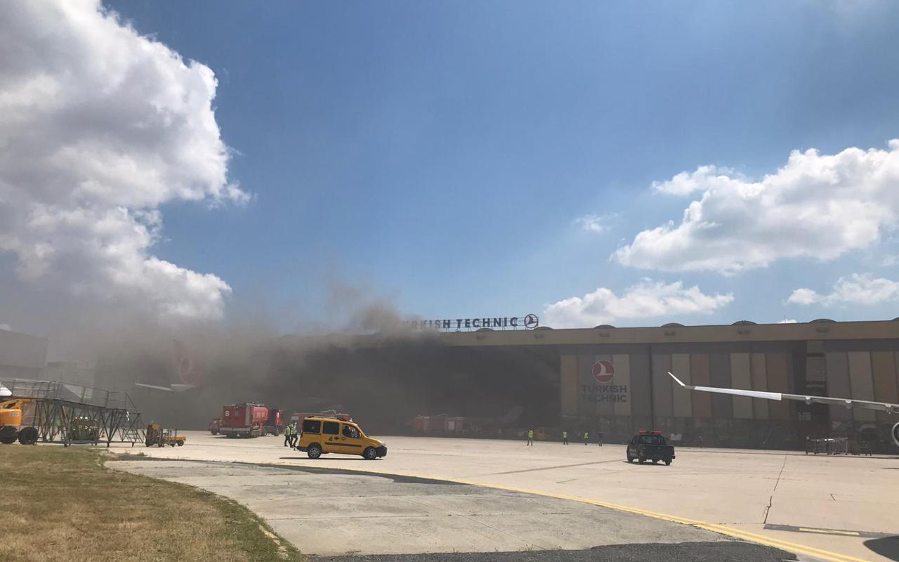 Atatürk Havalimanı'nda korkutan tüp patlaması