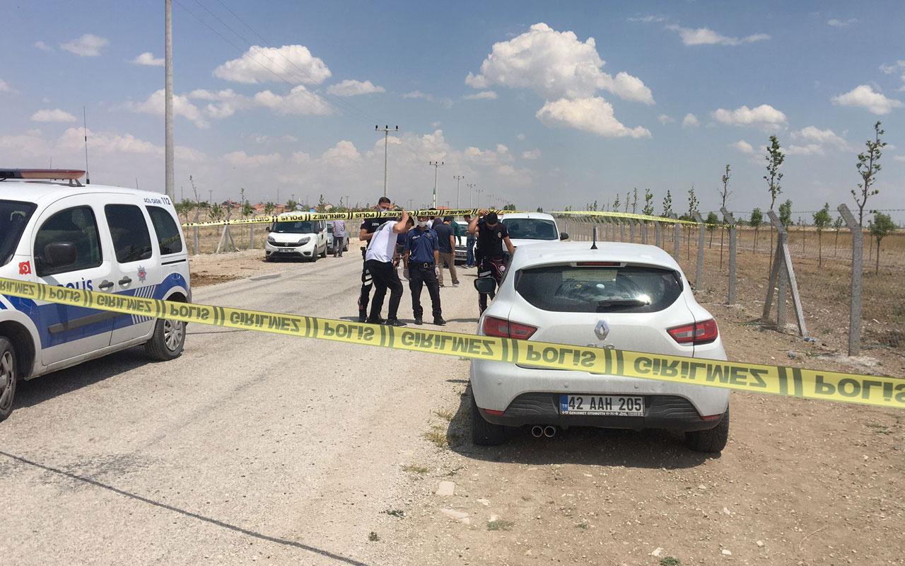 Konya'da eşi ulaşamayınca polise haber verdi otomobilinde ölü bulundu