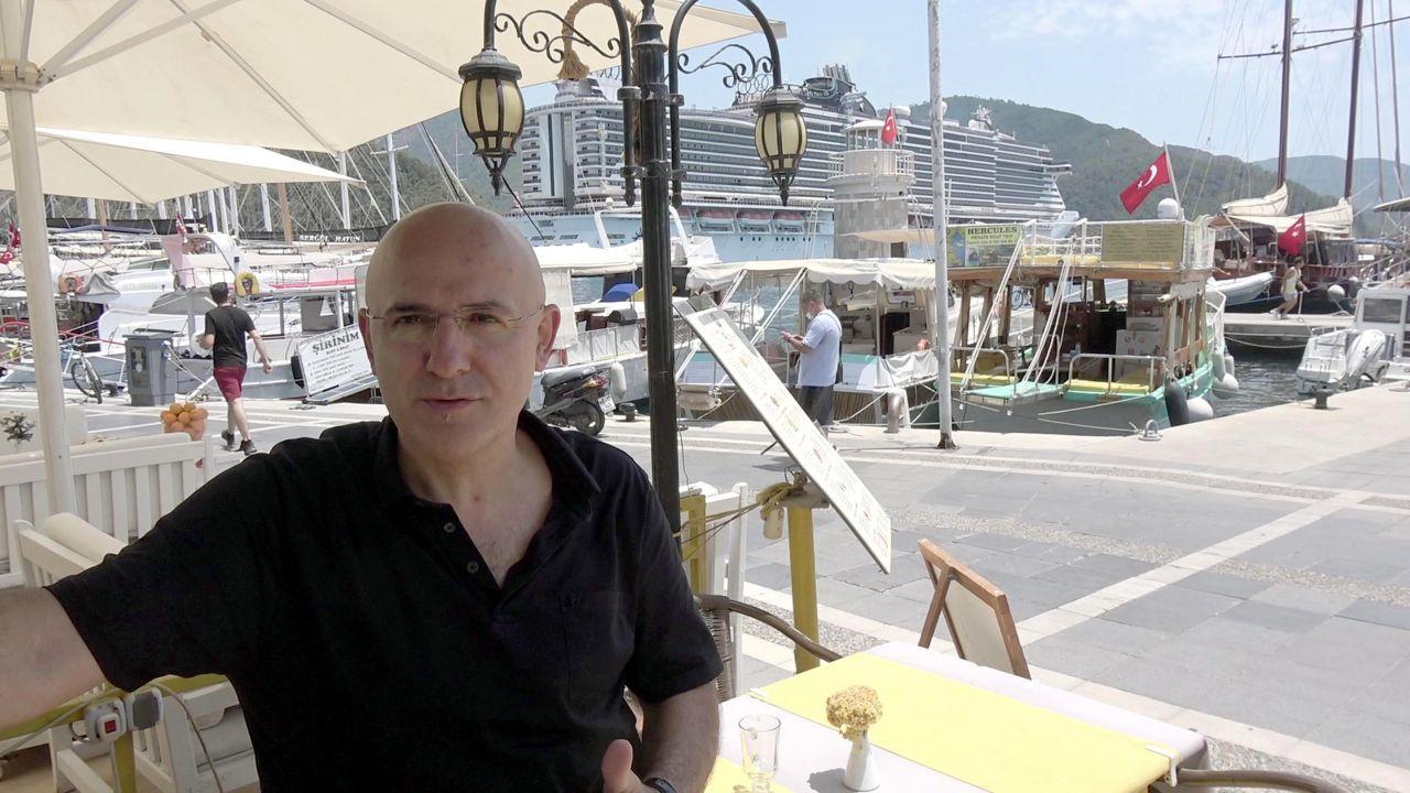 'Yüzen Kasaba' Marmaris'te! Limana demirledi esnafın sevinci kısa sürdü: Umutlarımız yıkıldı