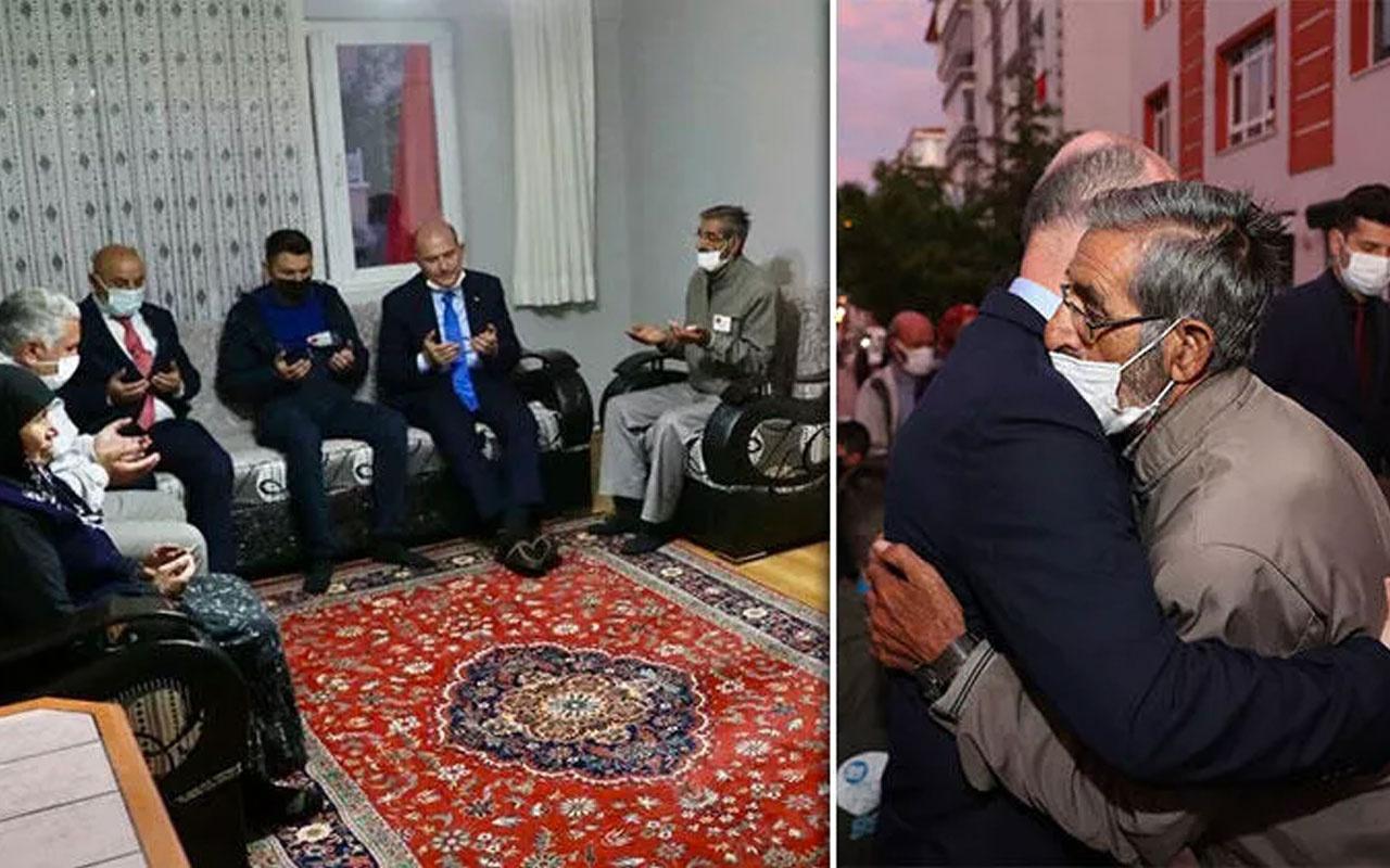 İçişleri Bakanı Süleyman Soylu'dan şehit jandarma Keleş'in ailesine taziye ziyareti