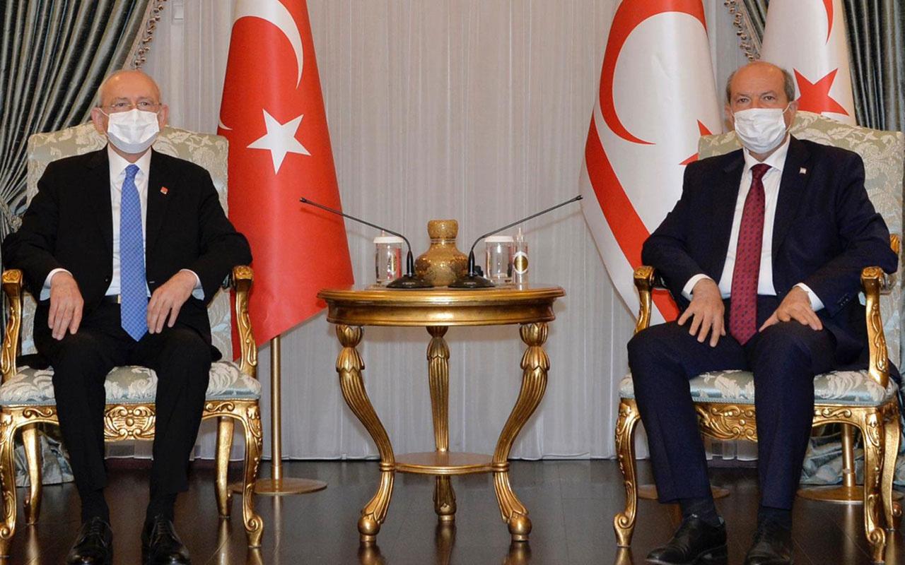 KKTC Cumhurbaşkanı Ersin Tatar CHP Genel Başkanı Kılıçdaroğlu'nu kabul etti