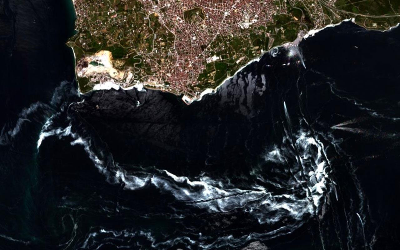 Marmara Denizi'ndeki müsilaj  uzaydan bile görünmeye başladı