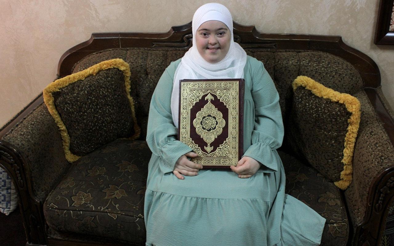 Down sendromlu kız Kuran hafızı oldu