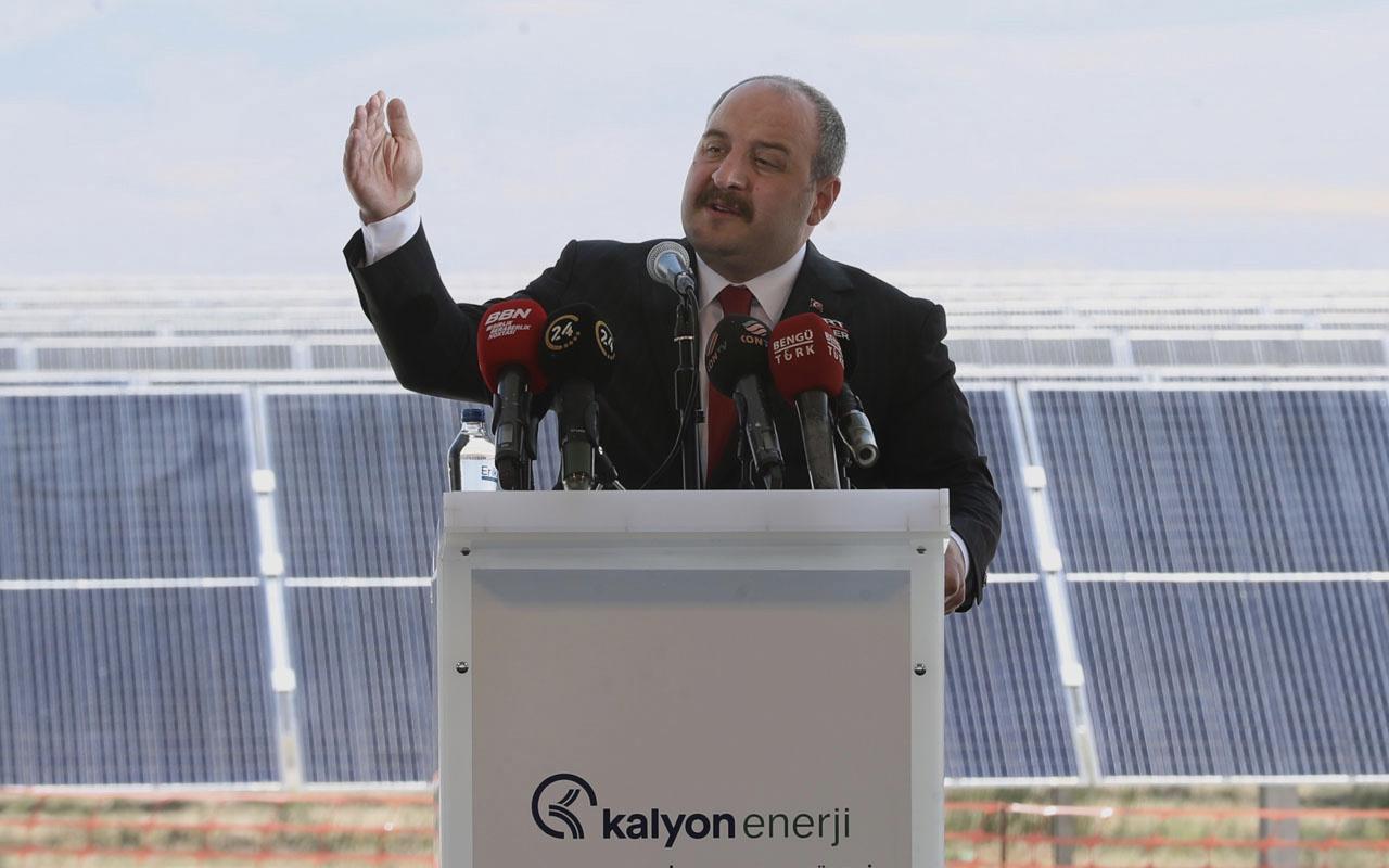 Mustafa Varank parmakla gösterilecek dediği santrali açtı