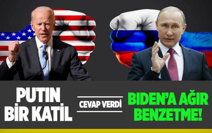 Vladimir Putin'den Joe Biden'a ağır benzetme! 'Katil' söylemine yanıt verdi