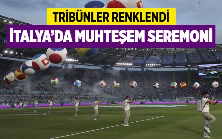 Türkiye - İtalya maçı öncesi muhteşem seremoni