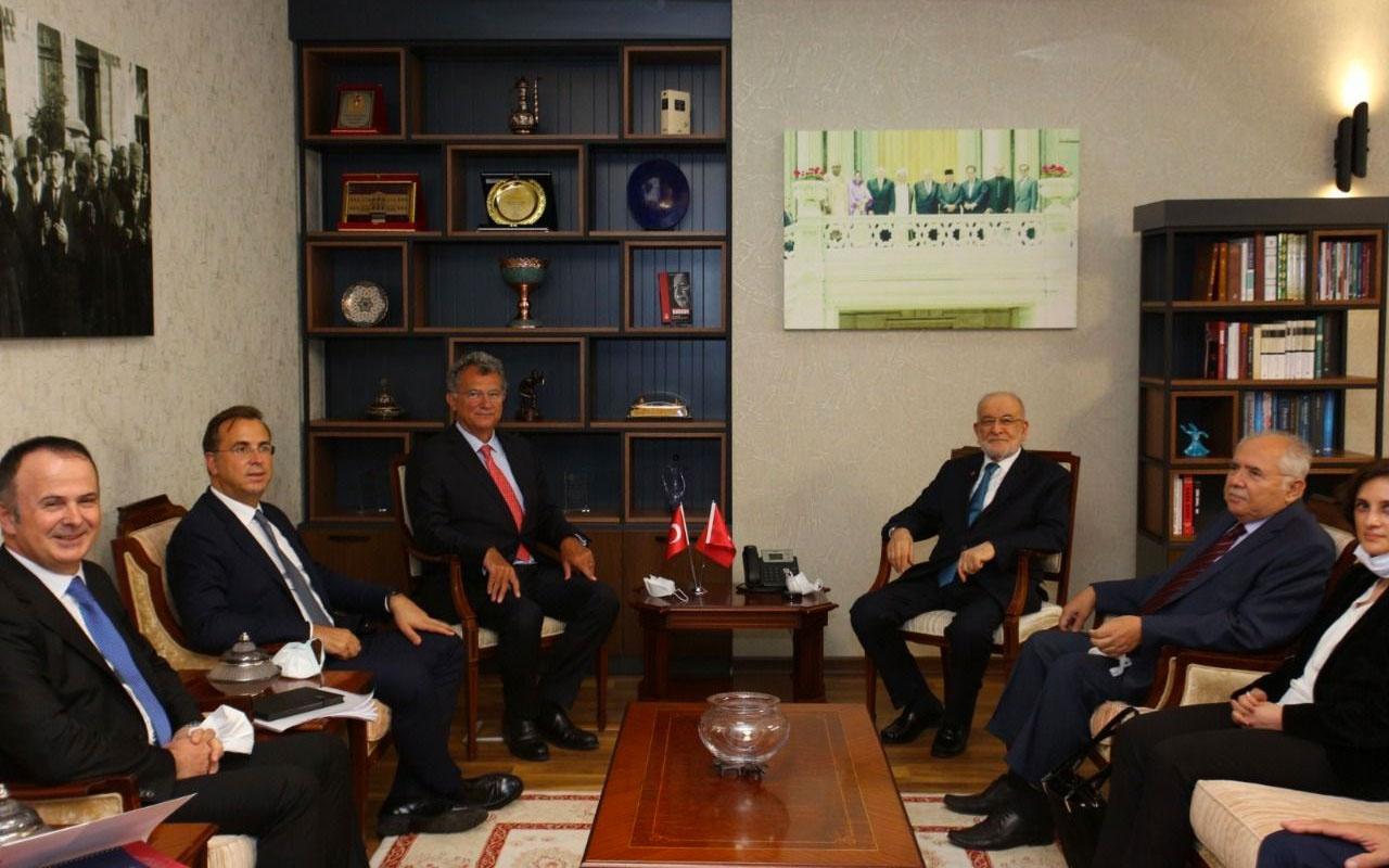 Saadet Partisi Lideri Temel Karamollaoğlu, TÜSİAD heyetini kabul etti