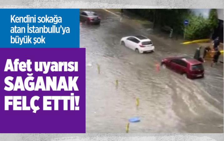 İstanbul'a dolu bastırdı gezmeye çıkanlar şok oldu