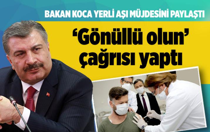 Bakan Koca'dan yerli aşının 'FAZ 3' çalışmasına gönüllü çağrısı E-Nabız üzerinden başladı