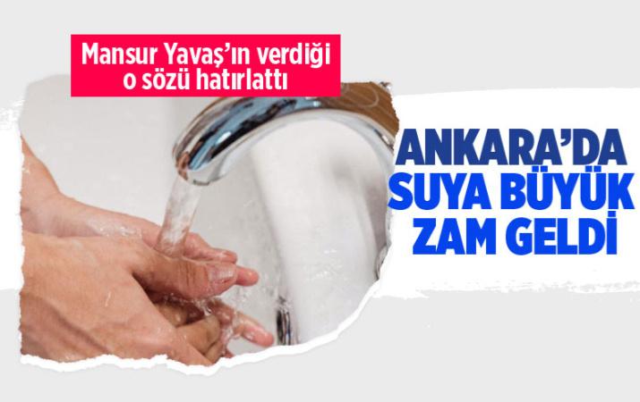 Ankara'da suya yüzde 80'e varan zam geldi