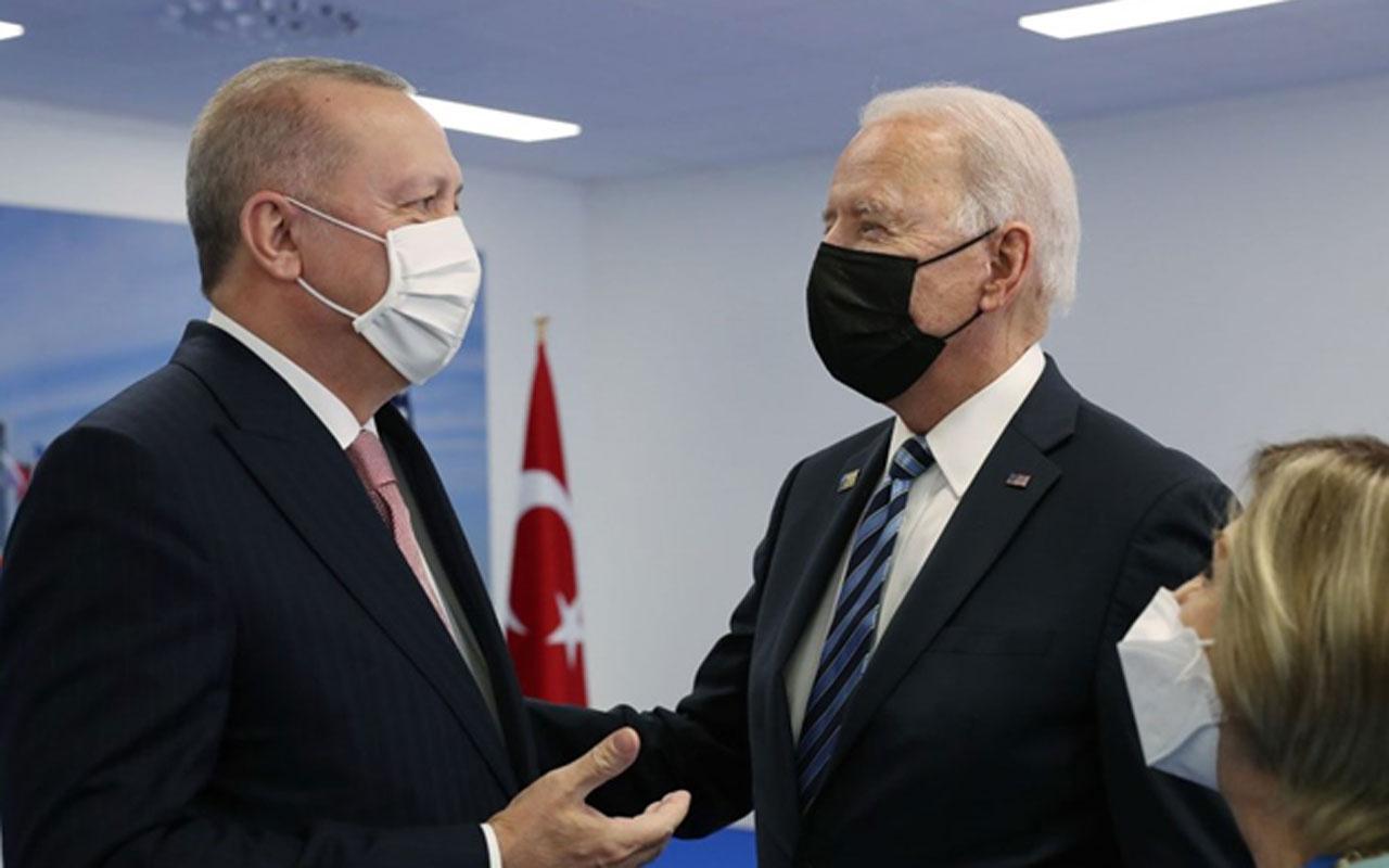 Erdoğan-Biden görüşmesinden kareler