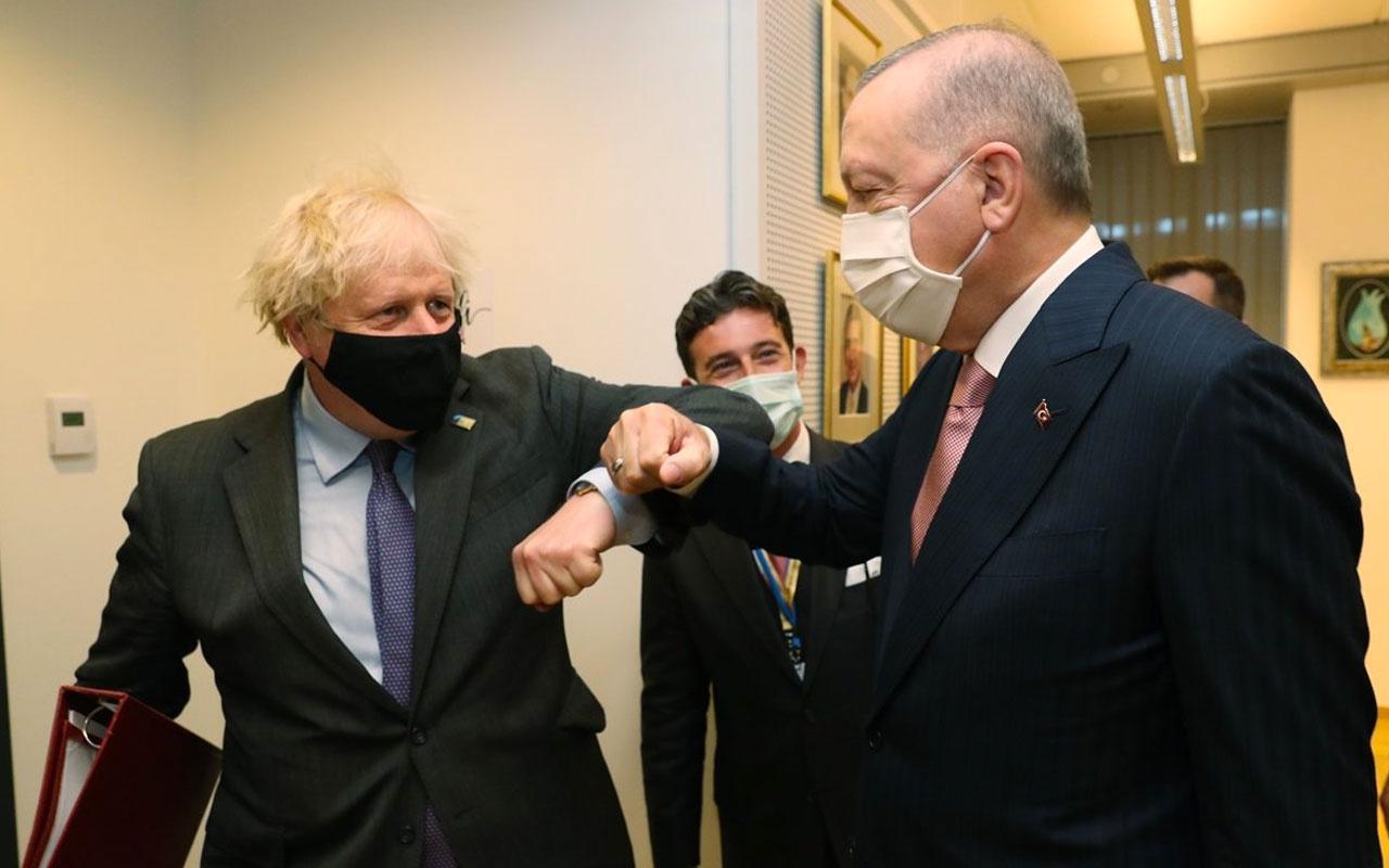 Cumhurbaşkanı Erdoğan İngiltere Başkanı Boris Johnson ile görüştü