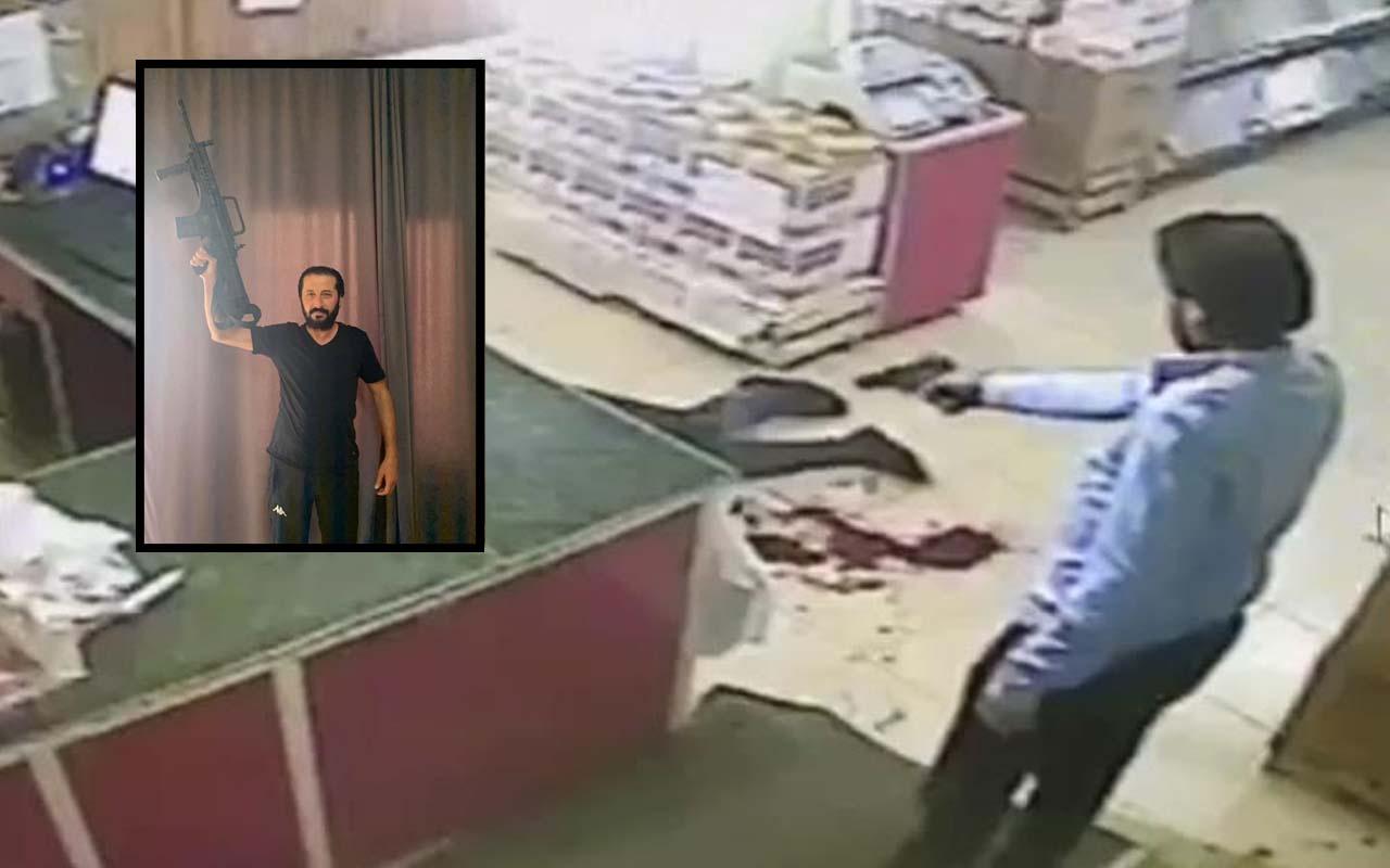 Konya'da kanlı görüntü! Market sahibinin öldürüldüğü an kamerada