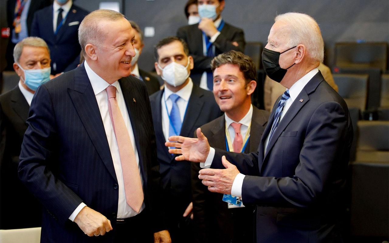 Cumhurbaşkanı Erdoğan ile ABD Başkanı Biden'dan ayaküstü ilk görüşme