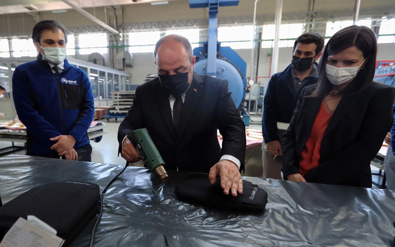 Bakan Mustafa Varank yerli balistik çözümler üreten Nurol Teknoloji'yi ziyaret etti