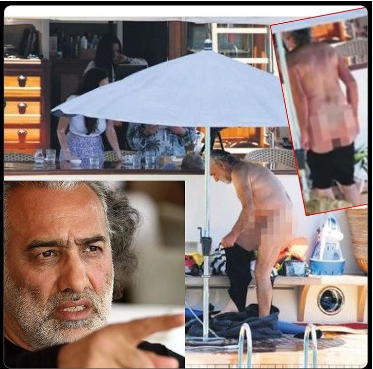 Sinan Çetin'in çıplak görüntüleri olay yarattı! Teknede üstünü değiştirince...