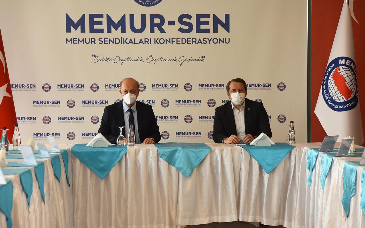 Çalışma Bakanı Vedat Bilgin Memur-Sen'i ziyaret etti