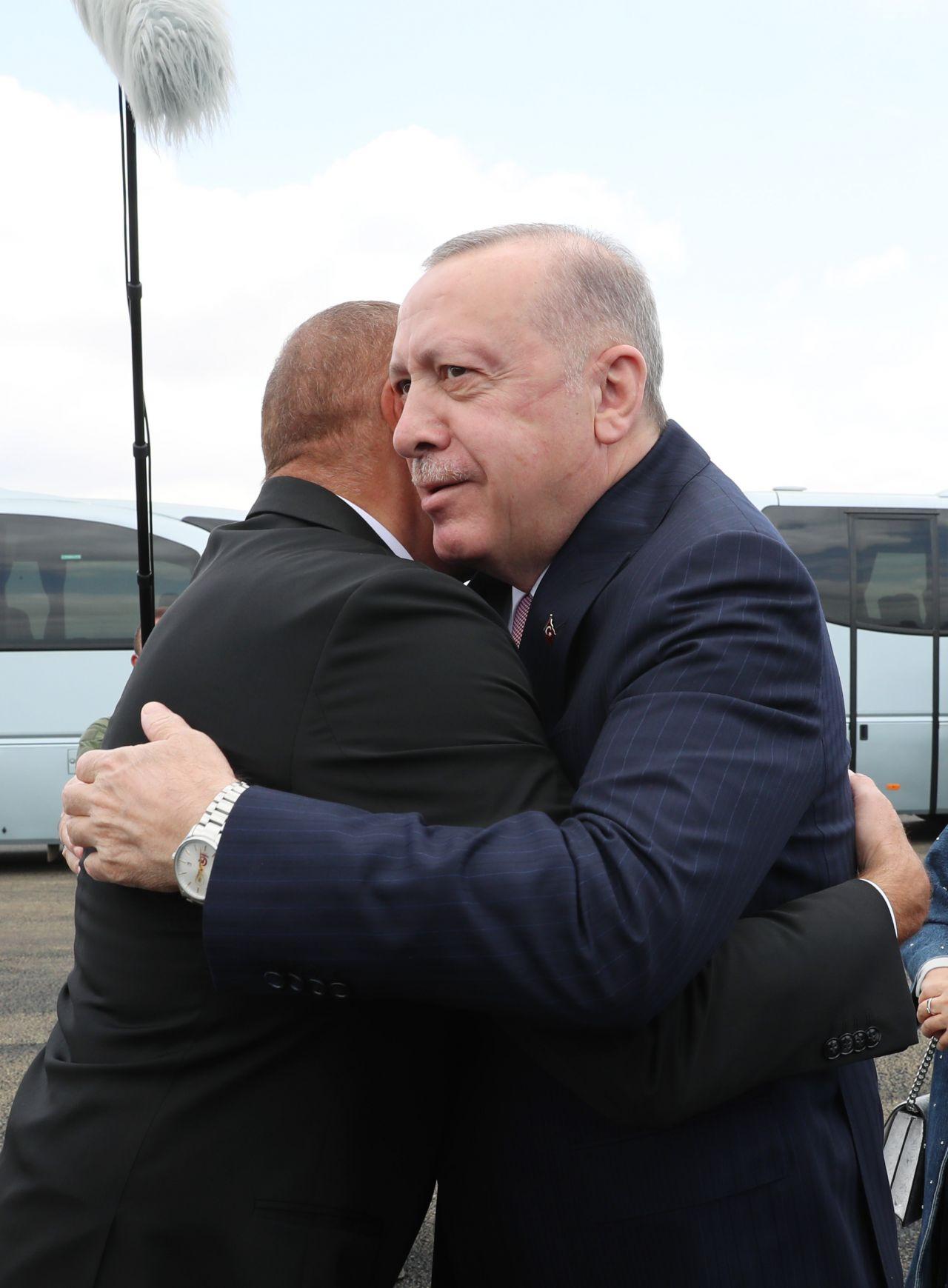 Erdoğan Azerbaycan'da Aliyev ile buluştu bir ilk olacak