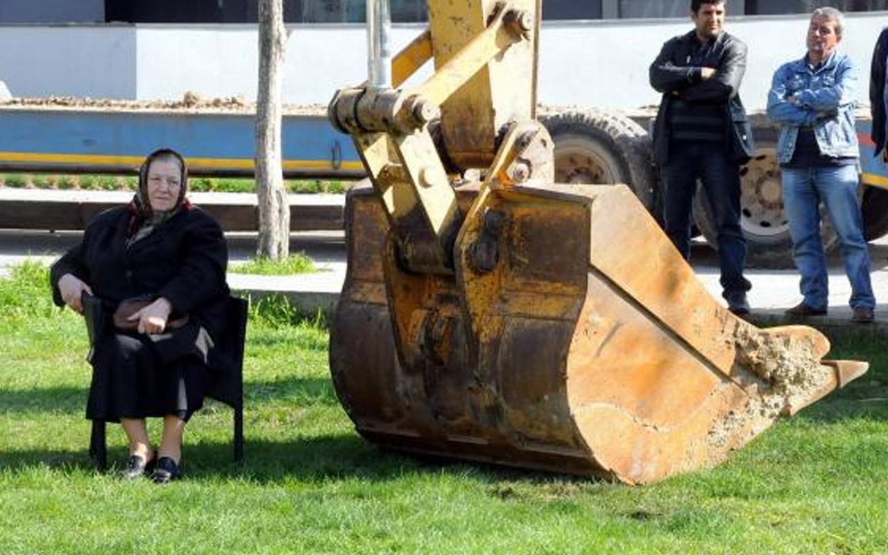 Edirne'de 7 yıl önce kepçenin önüne oturdu Kıymet teyze sayesinde yeşil alan çocukların
