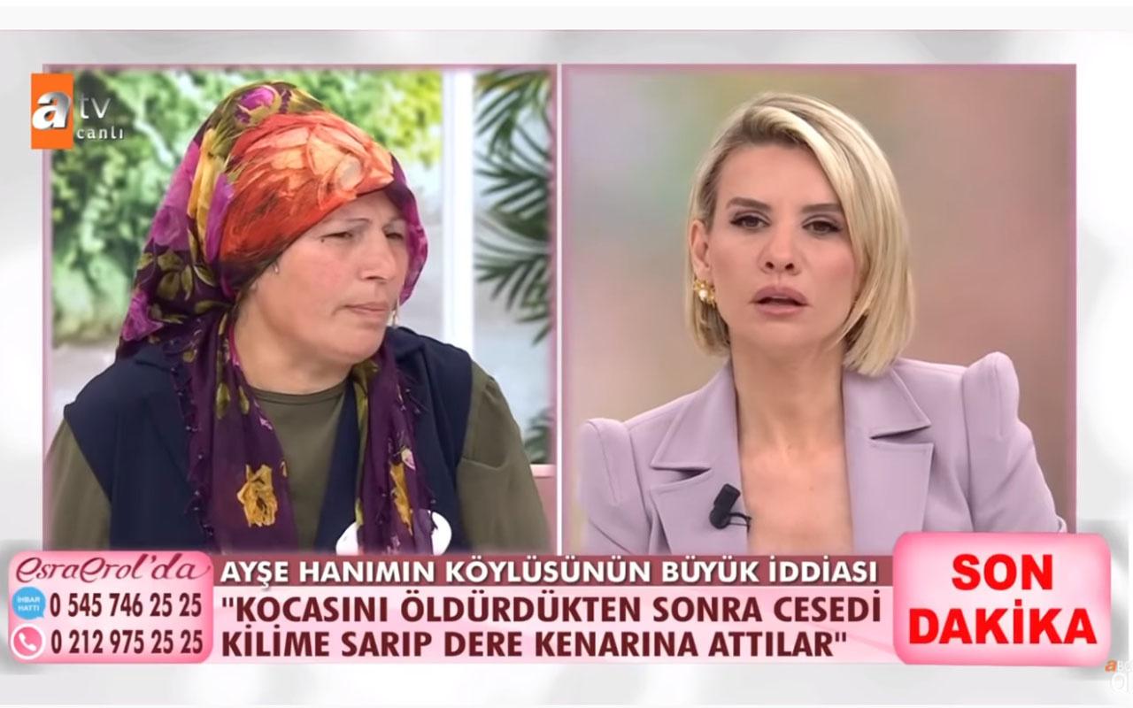 Esra Erol'da 'İlk eşini öldürdü suçu oğluna attı' iddiası kan dondurdu