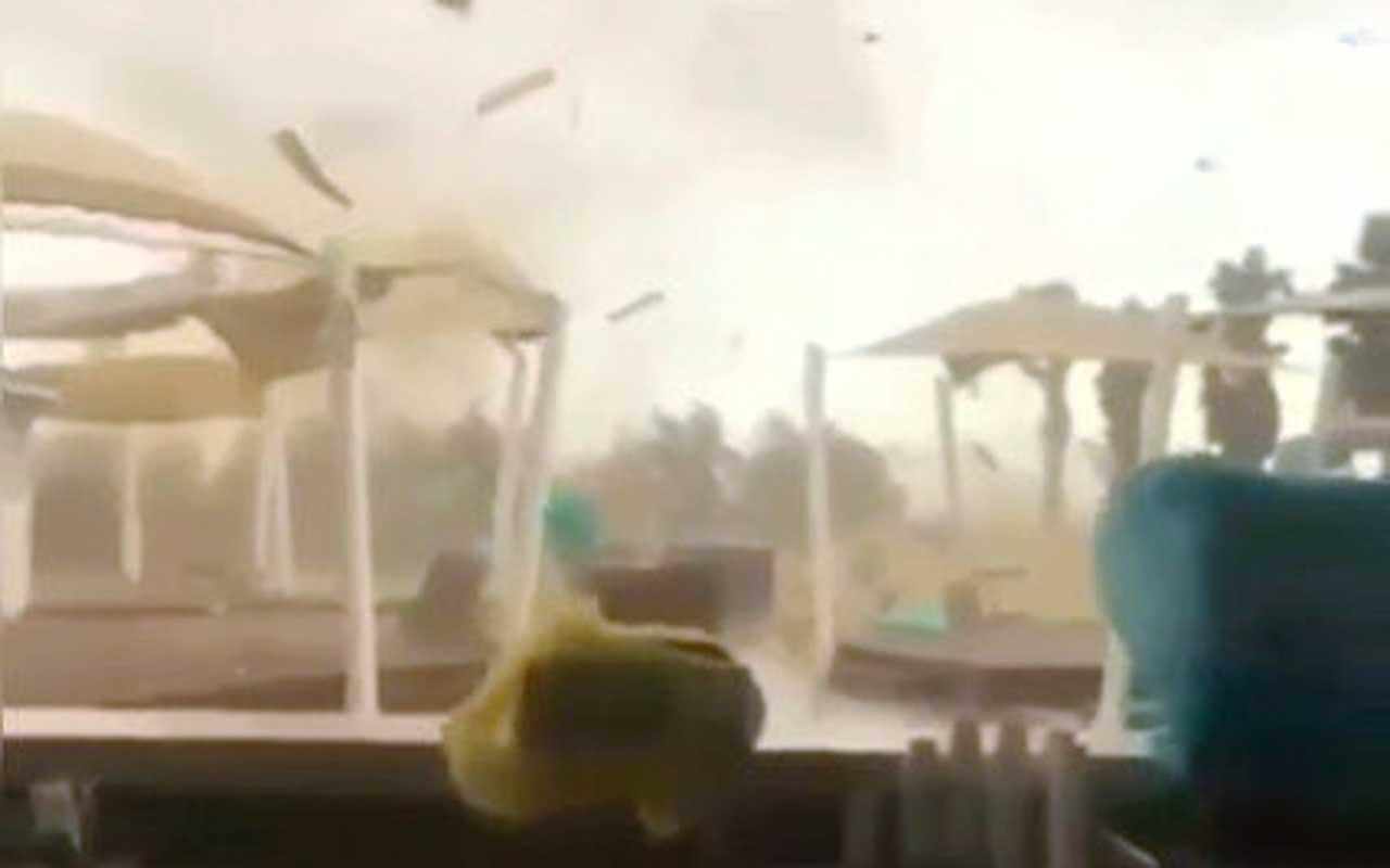 Antalya'da hortum dehşeti görüntülendi saniyeler içinde paramparça oldu