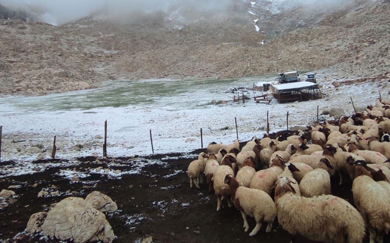 Antalya'da Haziran ayında kar yağdı kar yağışı etkili oldu
