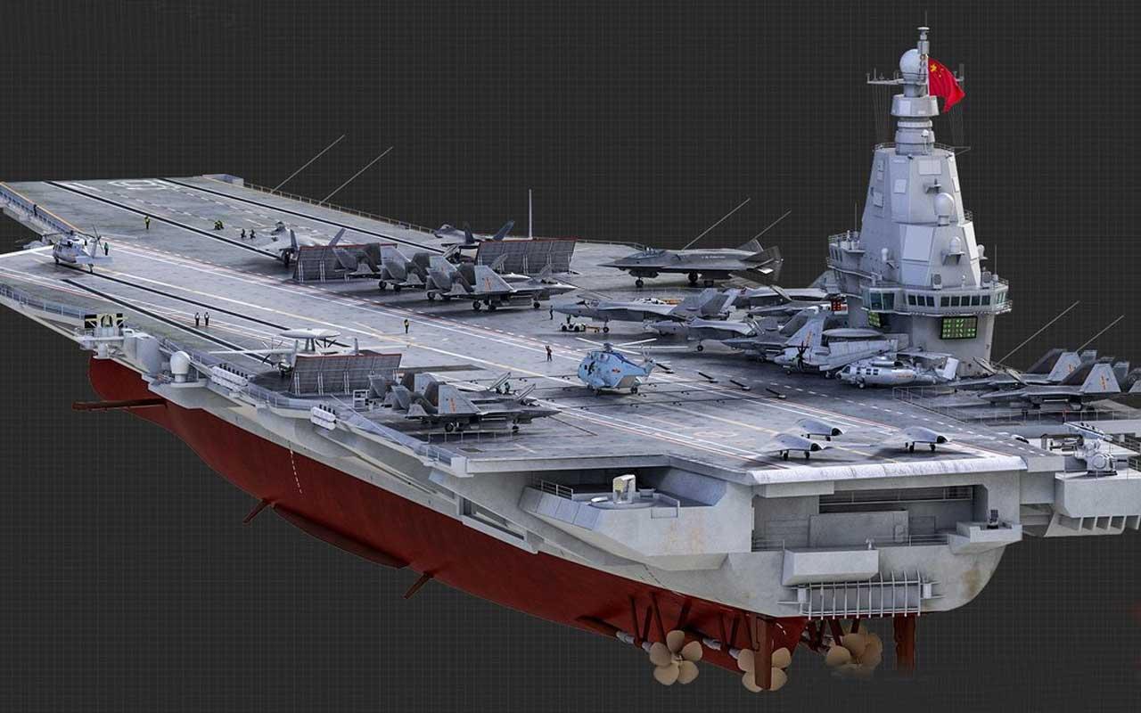 ABD dışında şimdiye kadar yapılmış en büyük uçak gemisi olacak Çin gövde gösterisi yaptı