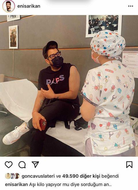 Aşı olan ünlüler fotoğraf paylaştı, koronavirüs mesajı verdiler