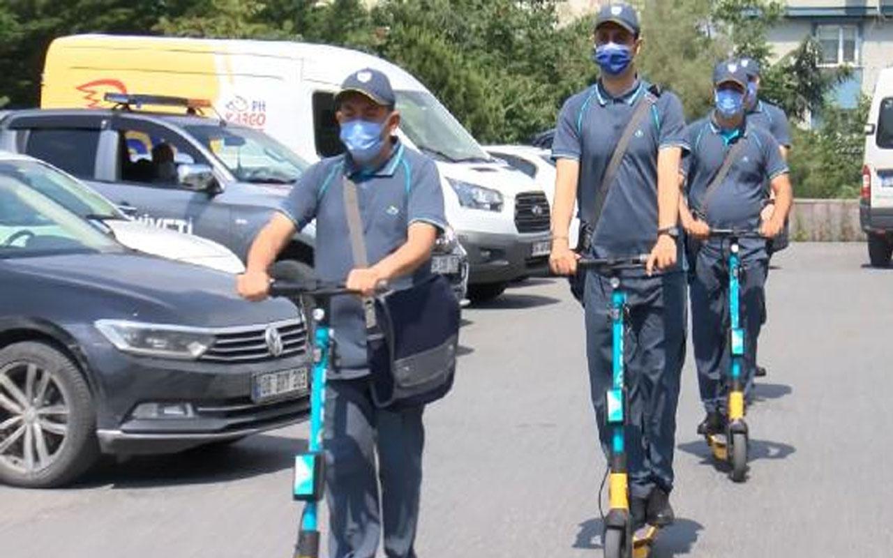 Bugün başladı! İstanbul'da elektrikli scooter'lı postacı dönemi