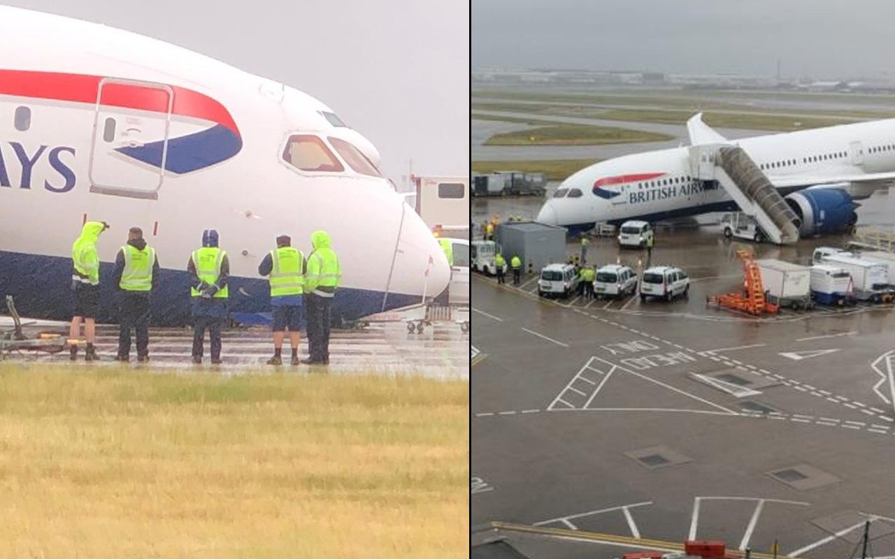 Havalimanında korku dolu anlar! Çok sayıda acil durum ekibi gönderildi