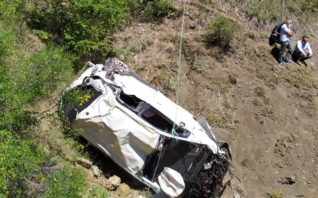 Giresun'da feci kaza! Araç 90 metrelik uçuruma yuvarlandı: Ölüler ve yaralılar var