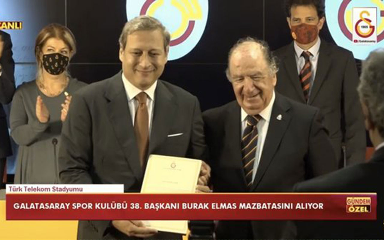 GalatasarayBaşkanıBurak Elmasmazbatasını aldı! İşte ilk mesajları