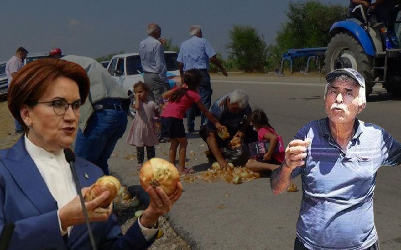 Akşener'in önüne soğan döken vatandaştan itiraf ve özür! İYİ Partililer beni kandırdı