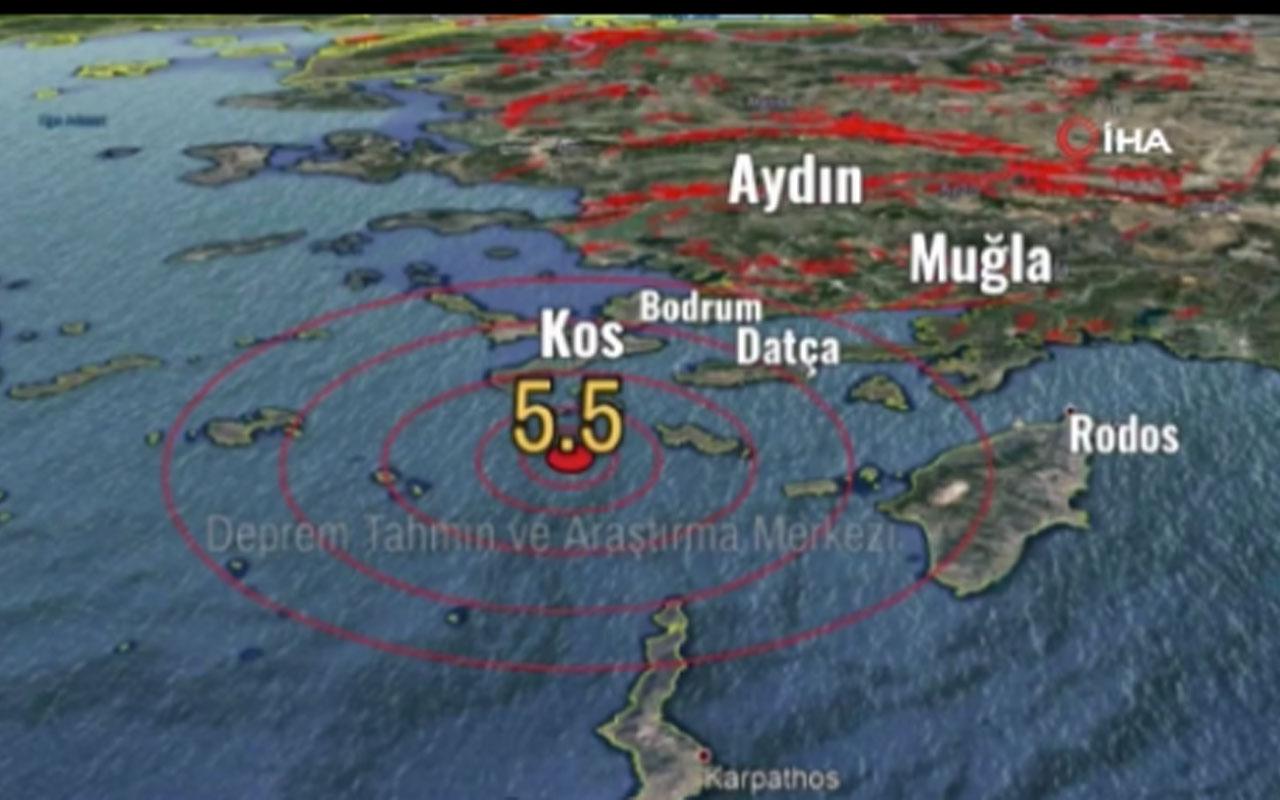 Muğla'daki 5.3'lük depremde korkutan sinyal! Deprem Tahmin ve Araştırma Merkezi yayınladı