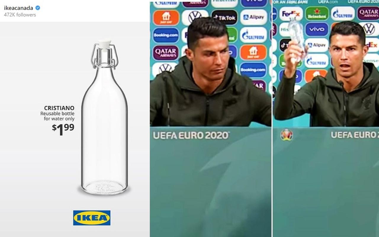 Ikea'dan Coca Cola'ya karşı hamle! Su şişesine Ronaldo adını verdiler